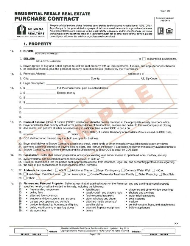 Sample Rent To Own Home Contract. Free Rental Forms To Print ...