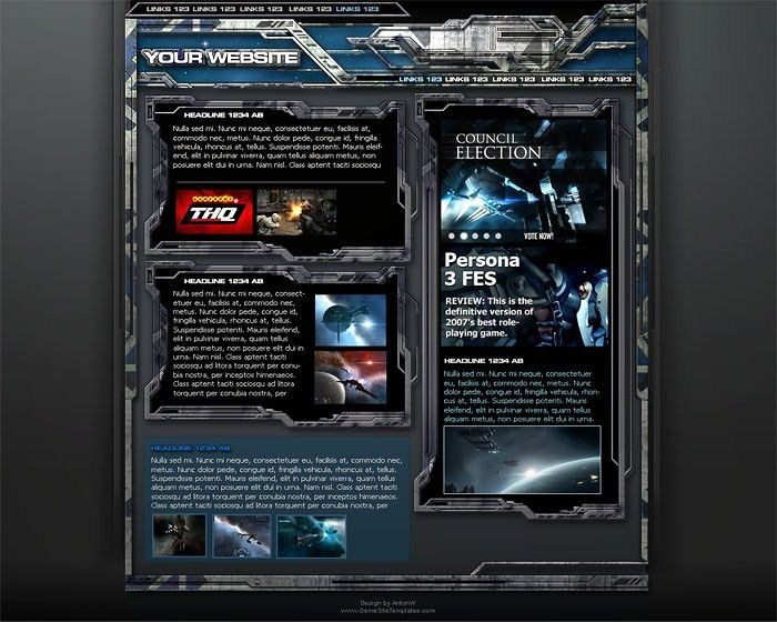 Space Game Web Template