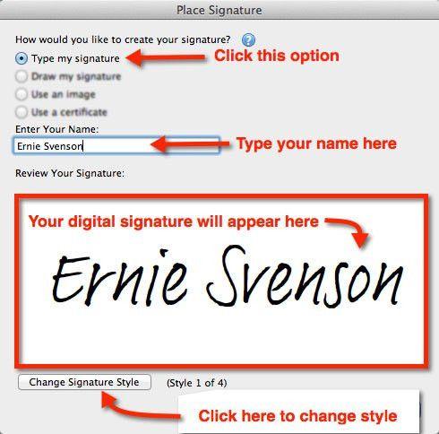 create a digital signature