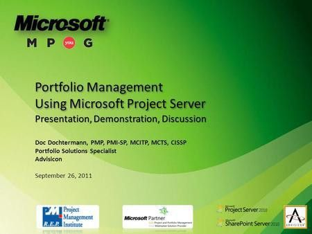Microsoft Project Conference ppt download