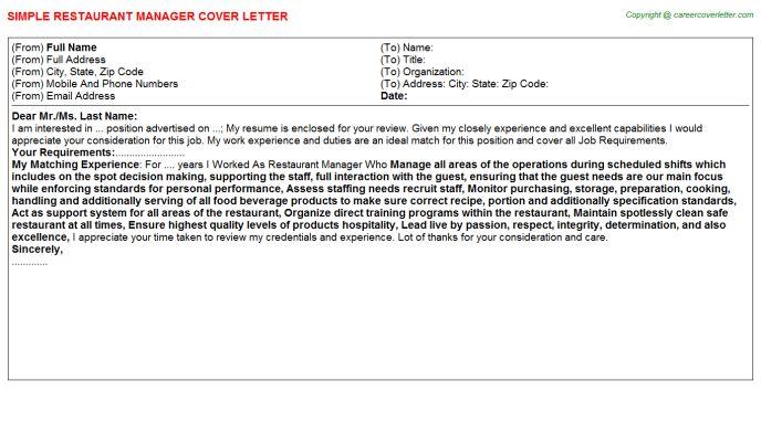 Restaurant Manager Job Title Docs