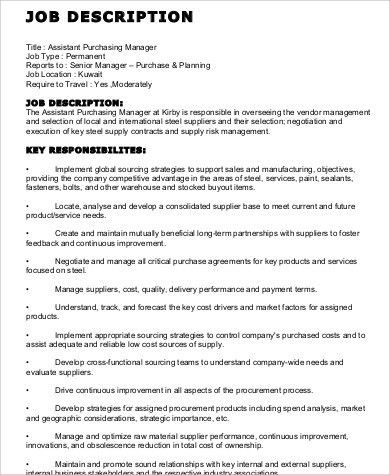Sample Resume For Purchasing Manager Purchase Manager Resume Job