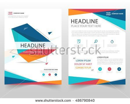 Blue Orange Cover Design Annual Report Stock Vector 399390970 ...