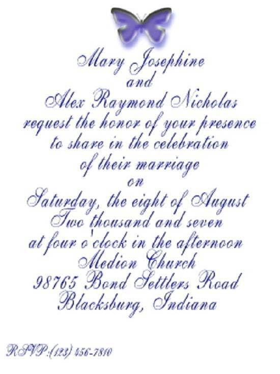 Sample Wedding Invitation Wording – gangcraft.net