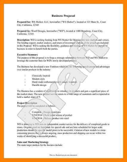 Business Proposal Format. Printable Sample Business Proposal ...