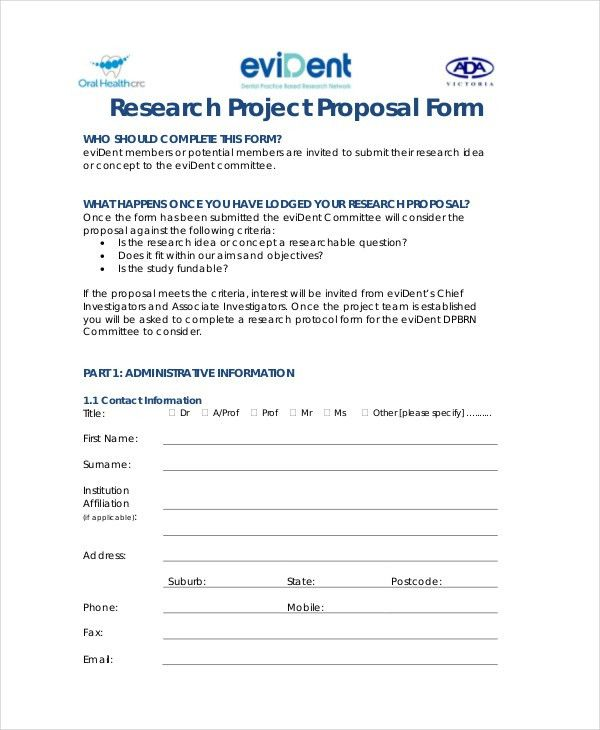 9+ Research Proposal Templates - Free Sample, Example, Format ...