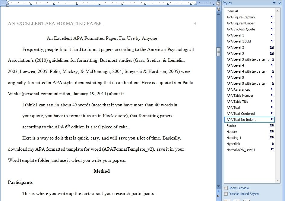 Apa Format Template Word 2013 | Best Template Examples