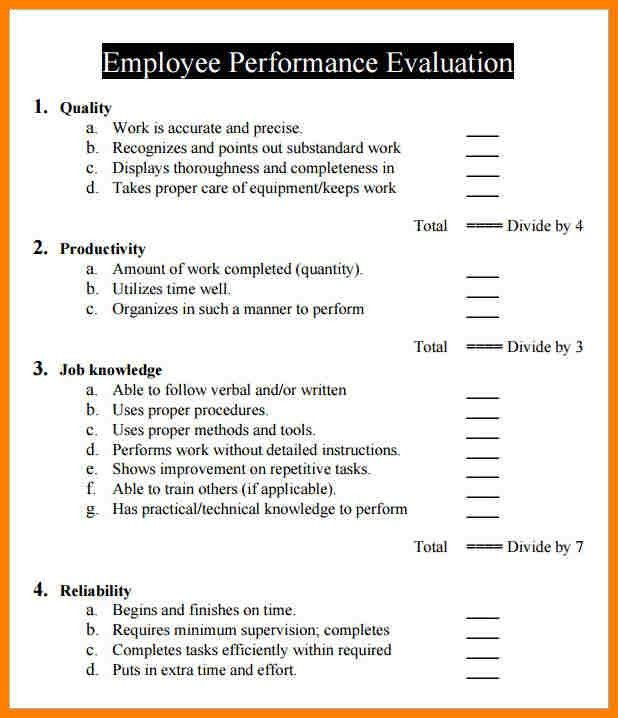 7+ job performance employee evaluation template | farmer resume
