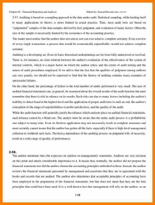 8+ financial reporting sample   science-resume
