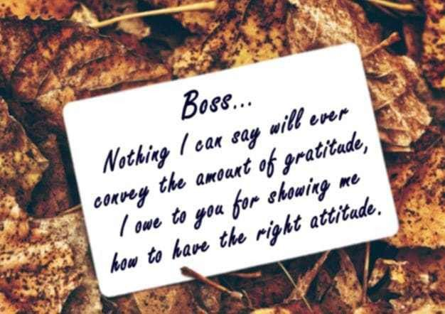 Thank You Note to Boss, Appreciation Letter to Boss, Manager or ...