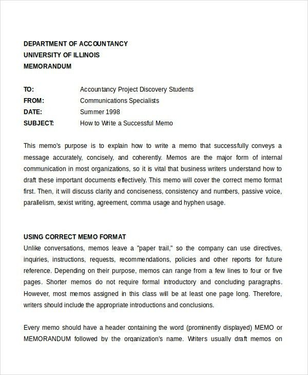 Memo Format - 15+ Free Word, PDF Documents Download   Free ...
