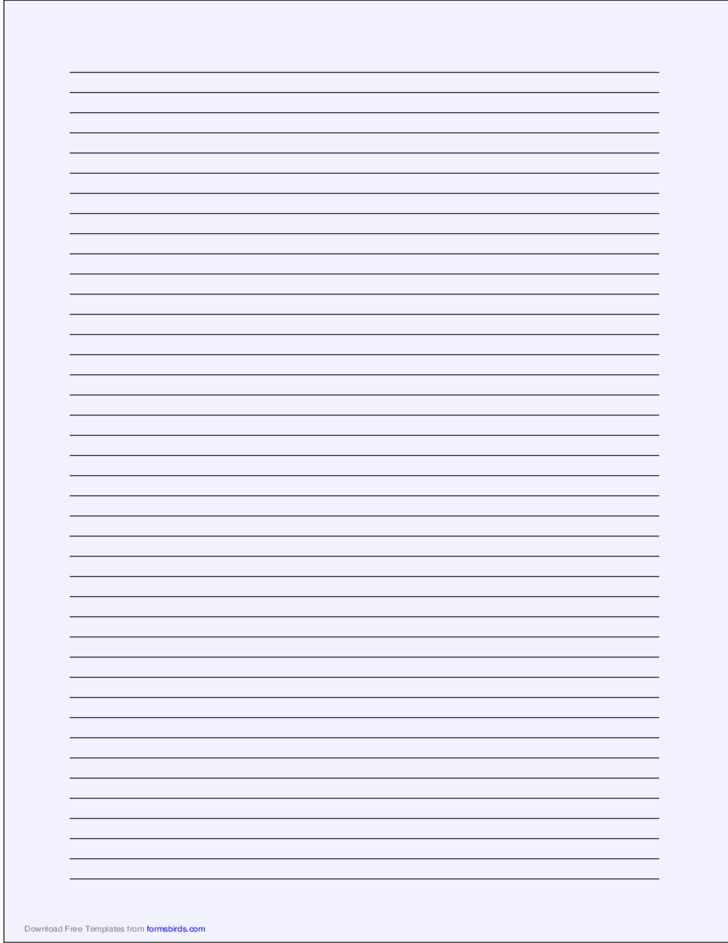 A4 Size Lined Paper with Narrow Black Lines - Pale Blue Free Download