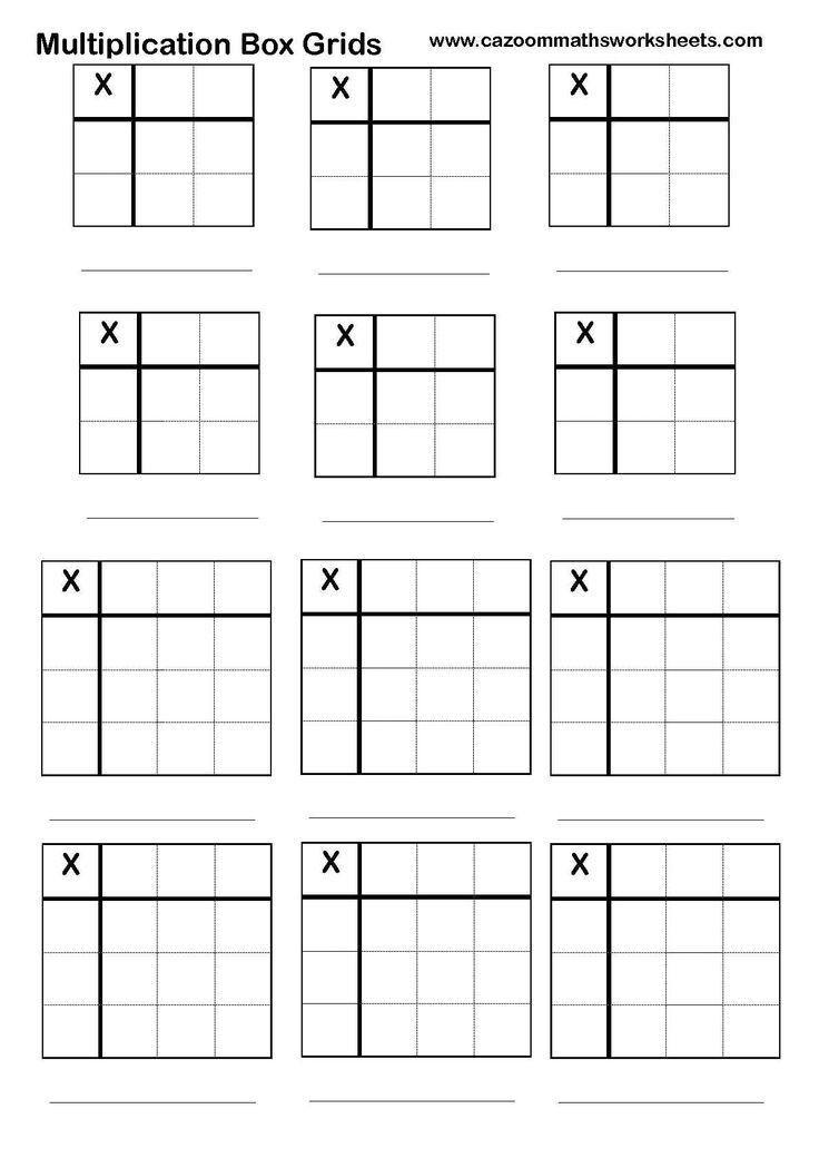 Best 25+ Multiplication grid ideas on Pinterest   Math centers ...