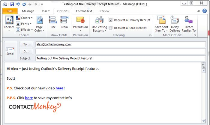 Outlook Delivery Receipt vs. Outlook Read Receipt