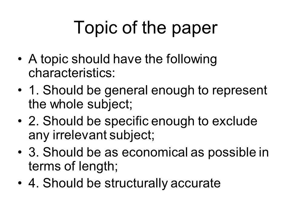 Writing Research Papers - ppt download