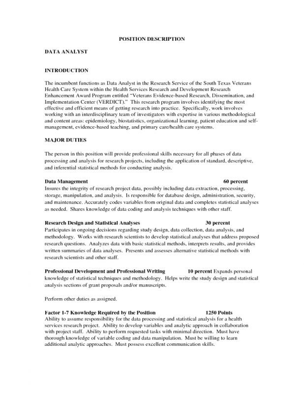 Health Data Analyst Cover Letter] Data Analyst Cover Letter Example ...
