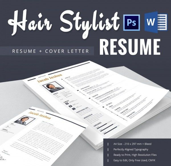 Hair Stylist Resume Template – 9+ Free Samples, Examples, Format ...