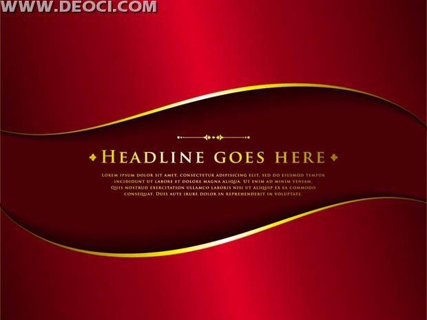 Vector red background arc poster illustrator design template ...