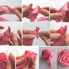 Маленькая роза из ленты своими руками пошаговое