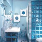 красивый дизайн ванной комнаты с душевой кабиной 40086