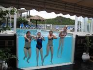 pool glass wall
