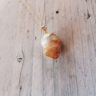 24k Gold Raw Citrine