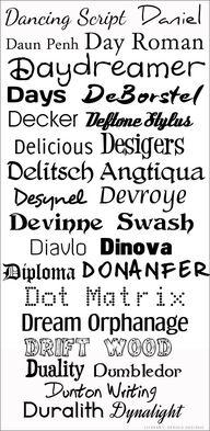 D Fonts