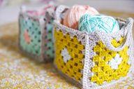 Crochet-granny-baske