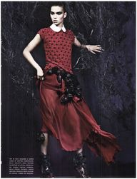 """Chic-Gothic-Glam"" : Arizona Muse & Ruby Aldridge : Vogue Italia September 2011 : Craig McDean"