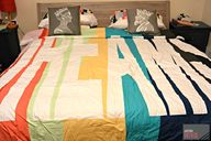 Fun, modern bedding