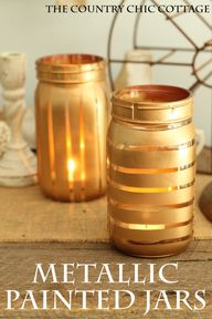 Metallic Painted Jar