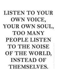 listen to your own v