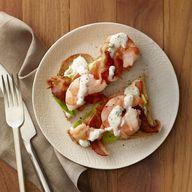 Shrimp BLTS toasts