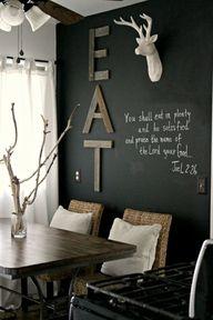 chalkboard wall // w