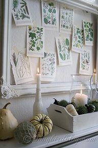 Fall mantel decorati