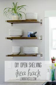 DIY Open Shelving -