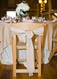 Burlap and lace ties