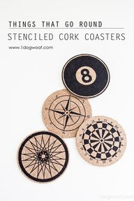 These stenciled cork