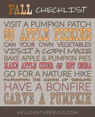 Fall Checklist #autu