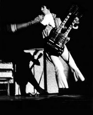 Pete Townsend - The Who. Ca. 1967, unknown USA date with Gibson double-neck and Fender Showman amps with 2x15 cabinets.
