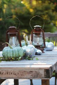 Rustic fall setting