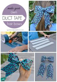 DIY Duct Tape Hair B