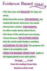 Evidence based on te...