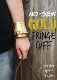 No-Sew Gold Faux Lea