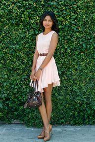 Pink pastel dress wi