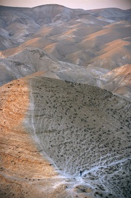 Israel, Judea Scene of Judean Hills east of Jerusalem