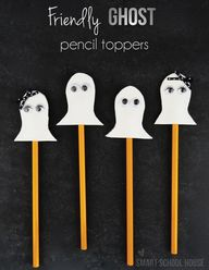Ghost Pencil Toppers...