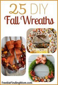 25 DIY Fall Wreaths