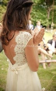 lace wedding dress l...