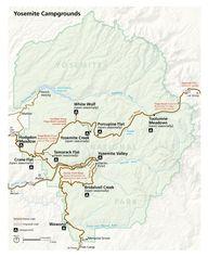 Map of Yosemite Nati